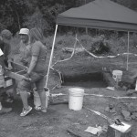 Volunteers working at Foye Cabin 2008